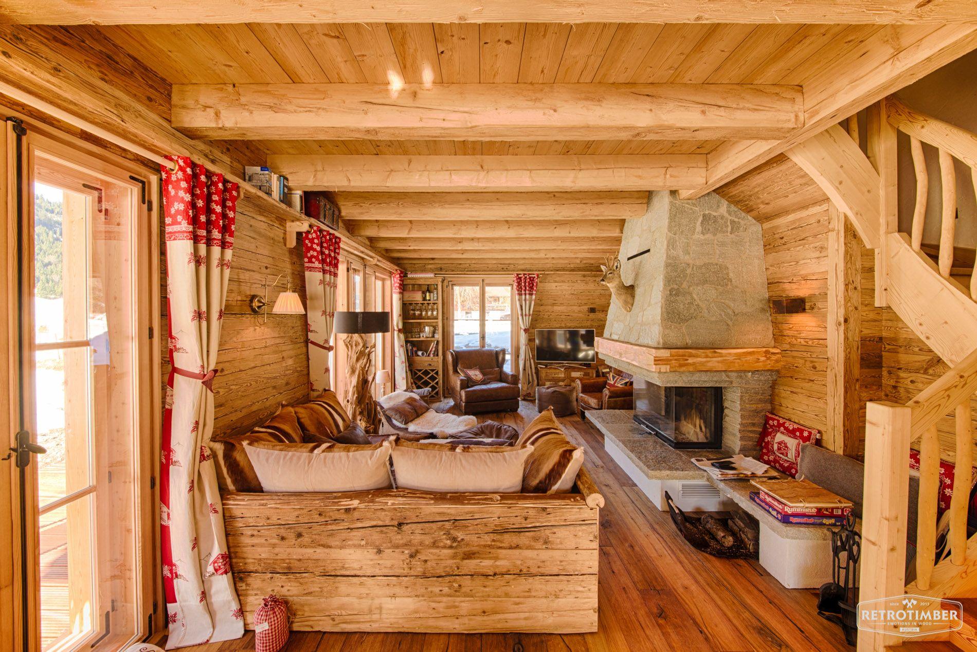 Retrotimber  Altholz Balken Hausbau Bau Fichte Lrche Landhausstil Wohnzimmer alt
