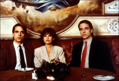 Jeremy Irons as Beverly and Elliot Mantle and Geneviève Bujold as Claire Niveau in Dead Ringers