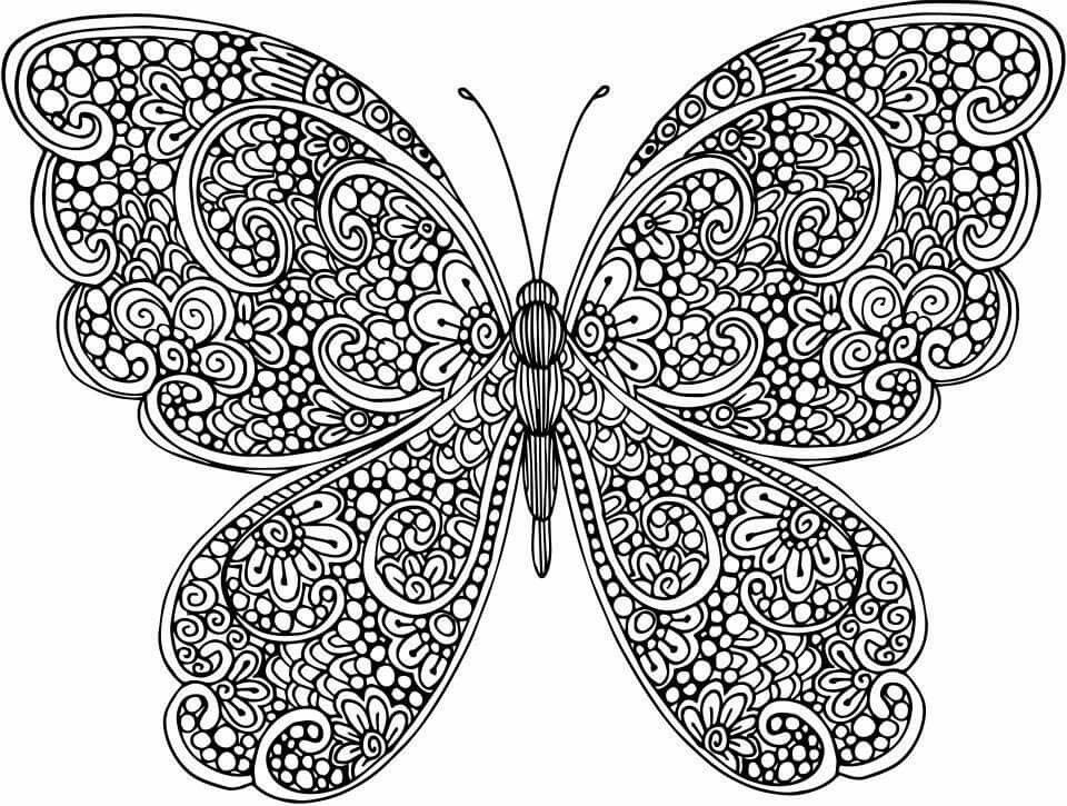 Pin By Carol Beck On Crafts Diy Butterfly Coloring Page Mandala