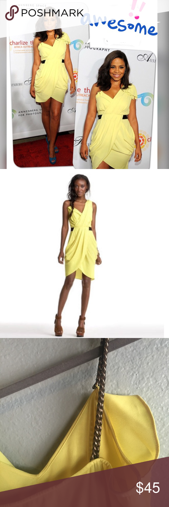 Rachel Roy Yellow Dress Yellow Dress Flattering Dresses Rachel Roy [ 1740 x 580 Pixel ]
