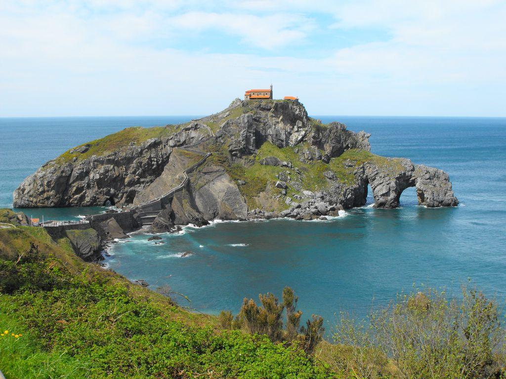 San Juan De Gaztelugatxe Bakio Vizcaya Paisajes Gaztelugatxe Pequeña Isla
