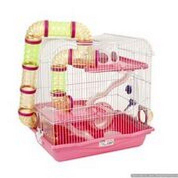 Harvey Explorer 3 Little Zoo Hamster Cage Pink Hamster Pet Bird Cage Hamster Cage