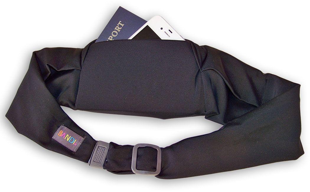 b50fb2cb2d5 The black BANDI Passport Belt keeps your hands free so you can ...