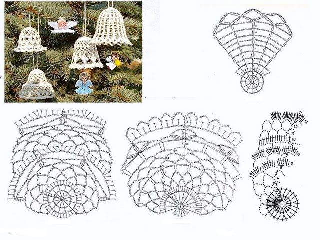 Ganchillo, macramé y patchwork: Adornos de Navidad a crochet ...