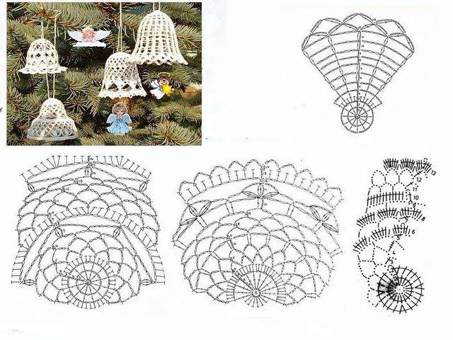 Dorable Patrón De Crochet Campana Friso - Coser Ideas Para Vender ...