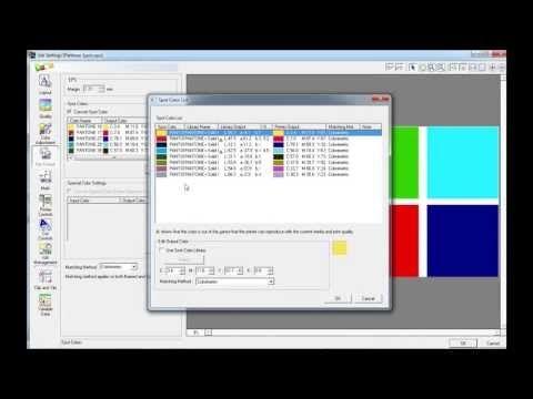 Roland VersaWorks - Pantone ® Spot Colours | Roland Tutorials