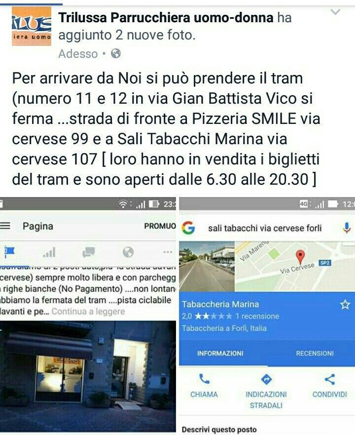 Per arrivare da Noi si può prendere il tram (numero 11 e 12 in via Gian Battista Vico si ferma ...strada di fronte a Pizzeria SMILE via cervese 99 e a Sali Tabacchi Marina via cervese 107 [ loro hanno in vendita i biglietti del tram e sono aperti dalle 6.30 alle 20.30 ]
