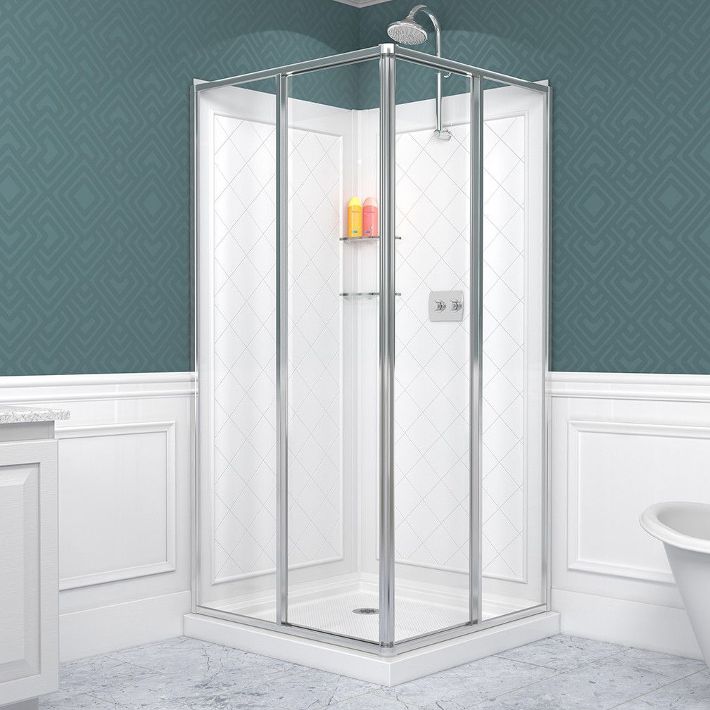 DreamLine DL615001 Cornerview Sliding Shower Enclosure