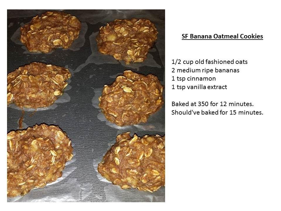 SF Banana Oatmeal Cookies