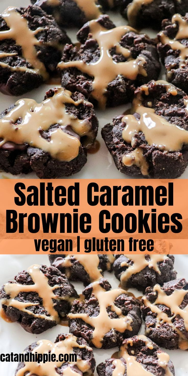 Salted Caramel Brownie Cookies: Vegan, Gluten Free - The Kind Mind Club