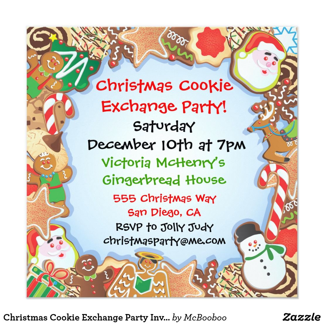 Christmas Cookie Exchange Party Invitation | Adult christmas party ...