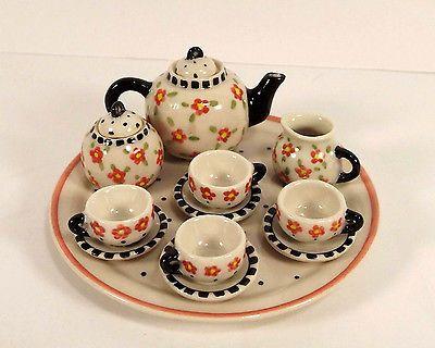 Mary Engelbreits Friendship Garden Miniature Tea Set Hallmark Galleries LE