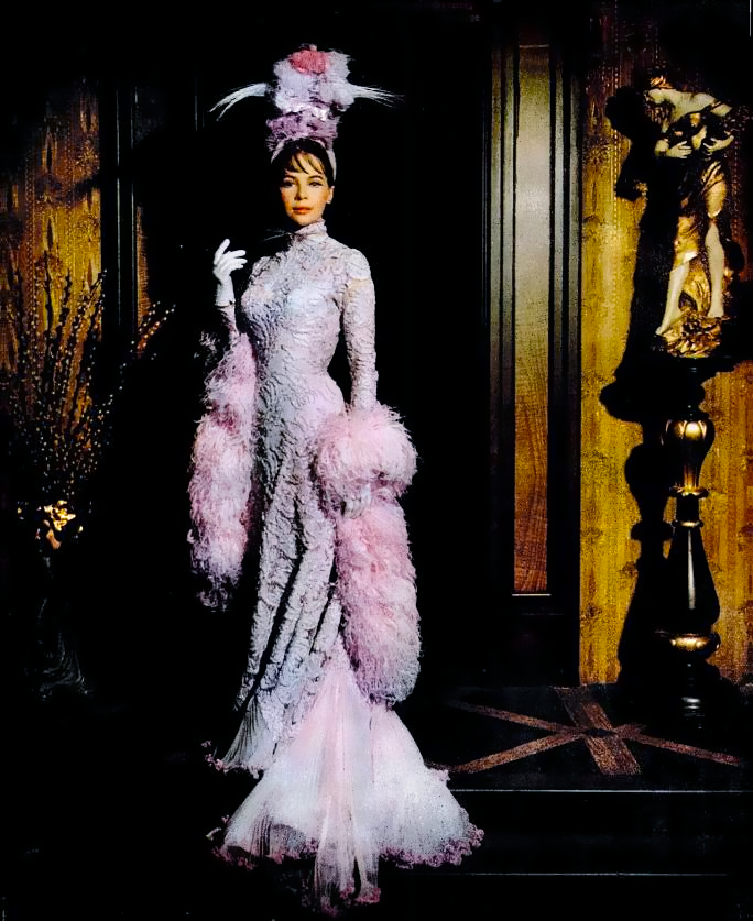 """operaqueen: """" Leslie Caron, in a glorious gown by Cecil Beaton, for GiGi. """""""