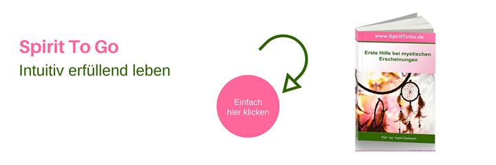 """Intuitiv erfüllend leben  Hole dir dein E-Book """"Erste Hilfe bei mystischen Erscheinungen"""".   www.SpiritToGo.de"""