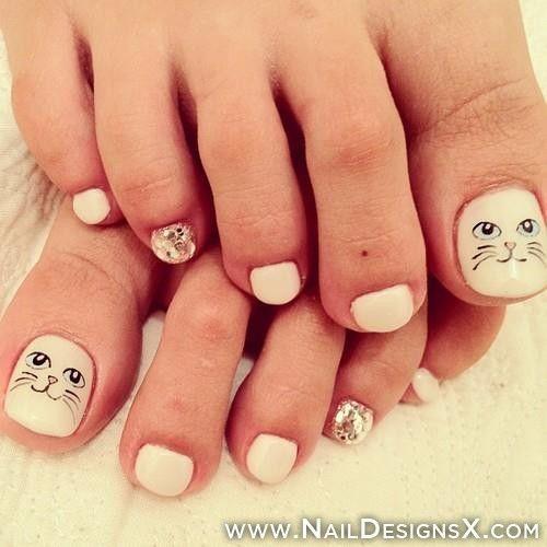 toe cat nail art - Toe Cat Nail Art Toe Nail Designs & Nail Art Pinterest Cat