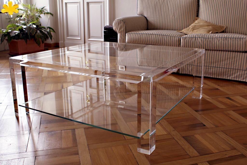 MODELLO MISSING A DUE PIANI tavolino trasparente