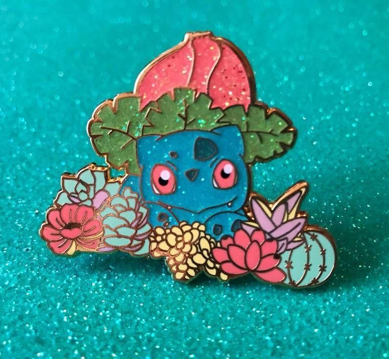 Pokemon Glitter Pins made by kdeKevin -