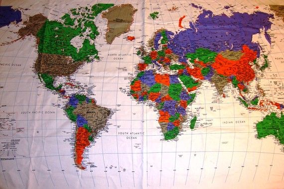One piece of world map fabric is cover the world and cities continuously 2 pieces of the world map fabric cover the world and cities continent is one of several very large landmasses on earth gumiabroncs Images