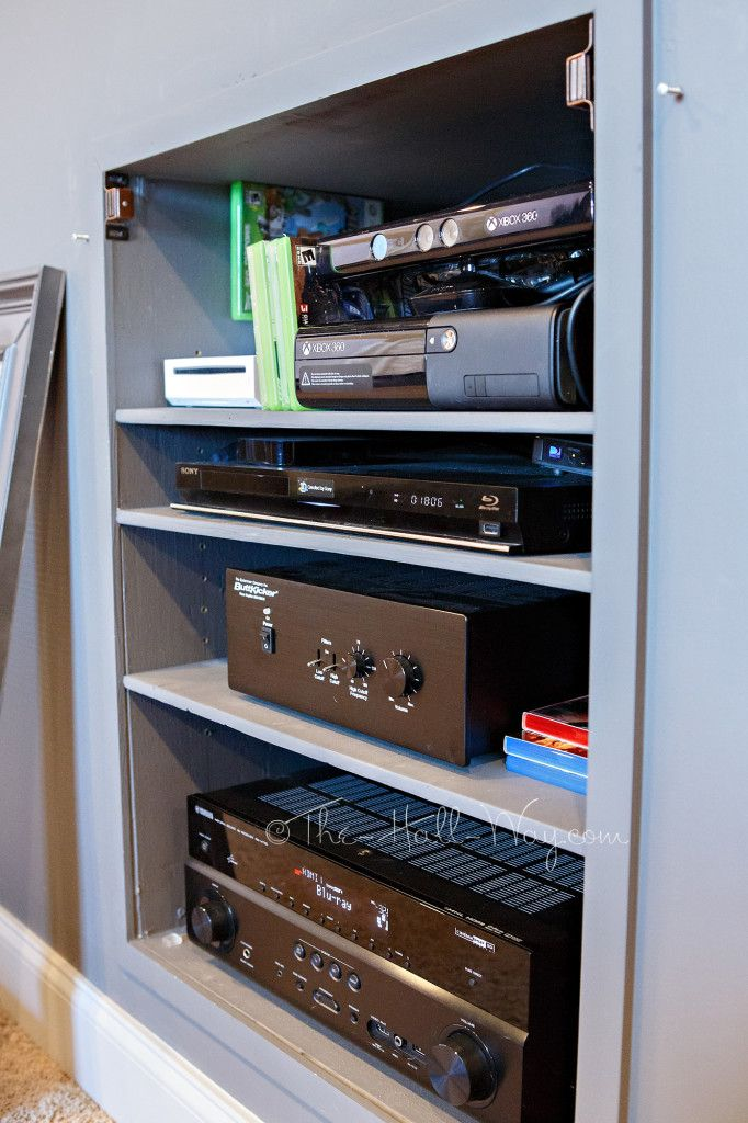DIY Home Theater   Bonus Room   Built In Electronics Cabinet #Platform  #riseru2026
