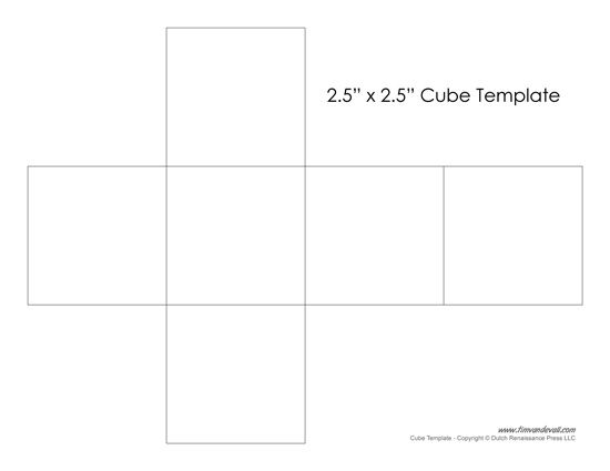 Printable Paper Cube Template Cube Template Paper Cube