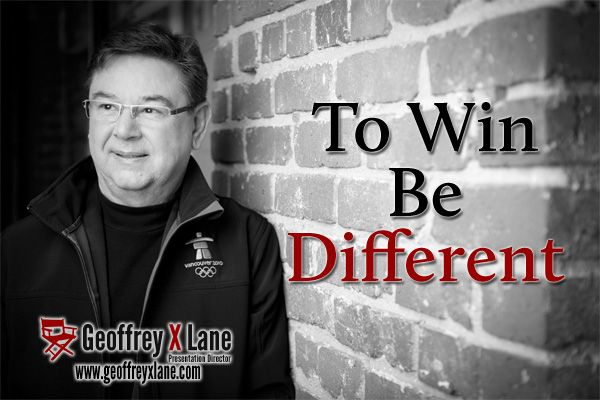 wwwgeoffreyxlane/ To Win, Be Different Effective - quote on presentation