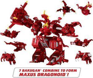 Amazon Com Bakugan 7 In 1 Maxus Dragonoid Toys Amp Games