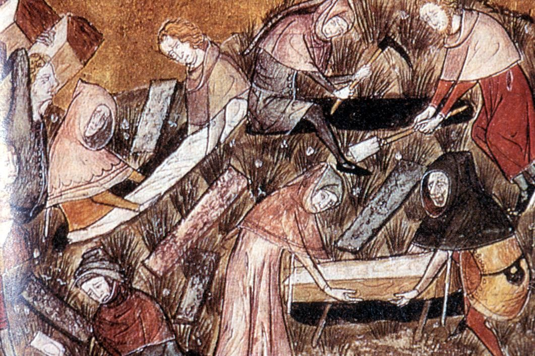 what caused the bubonic plague in the middle ages