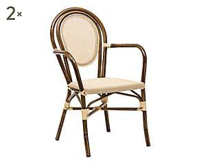 Sedie Bambu ~ Set di 2 sedie in alluminio effetto bamboo corinne 55x88x60 cm