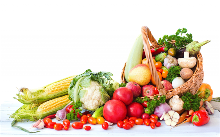 Download Wallpapers Healthy Food Diet Concepts Vegetables