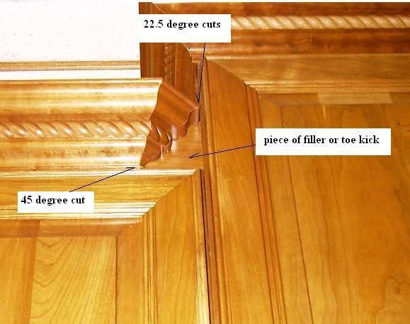 how to cut kitchen cabinet crown molding cabinet crown molding with bumped cabinets kitchen 16926