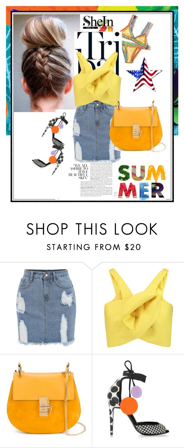 """""""Summer is crazy"""" by awesomella-1 ❤ liked on Polyvore featuring Delpozo, Chloé and Pierre Hardy"""
