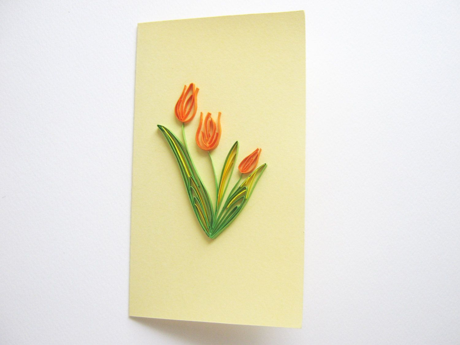 Tulips Card  Quilling  Pinterest  Quilling Craft and Etsy