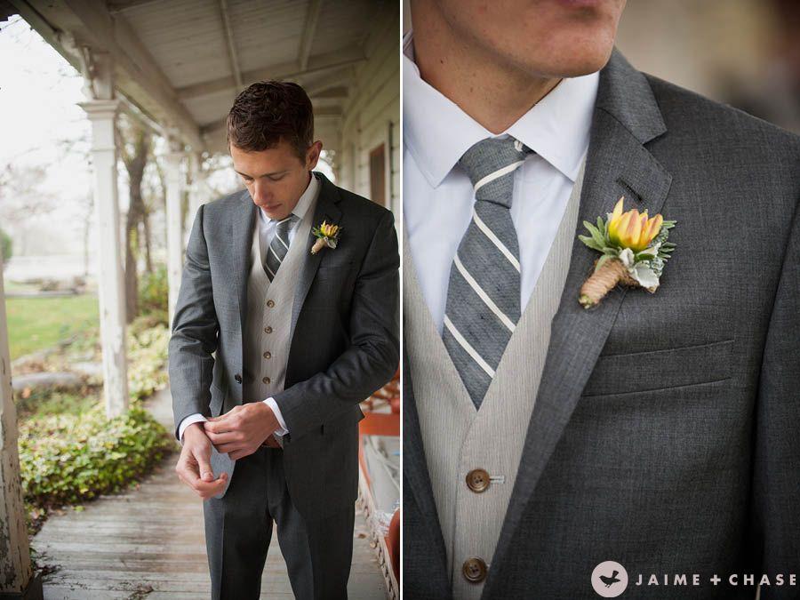 in LOVE with the dark grey suit | wedding dress | Pinterest | Dark ...