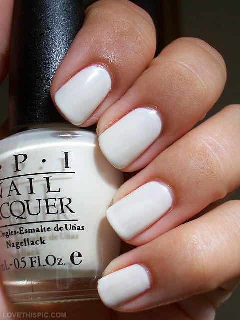 White OPI Nails nails nail polish white polish opi nail polish ...