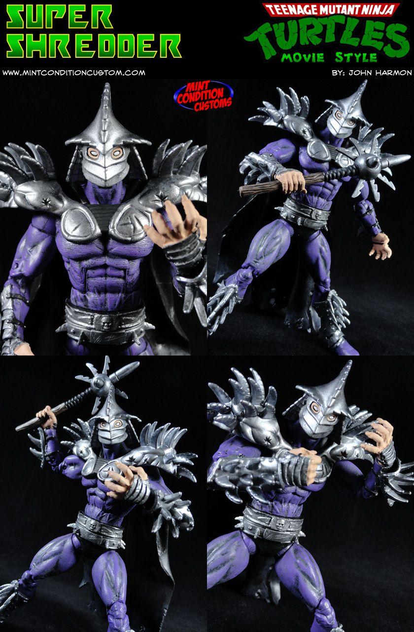 Custom Super Shredder Movie Style Tmnt Action Figure Created