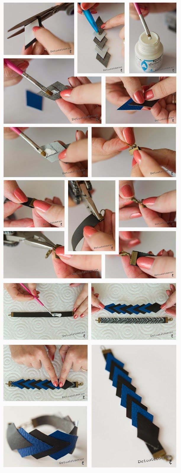 Tuto DIY // Des bijoux en cuir!