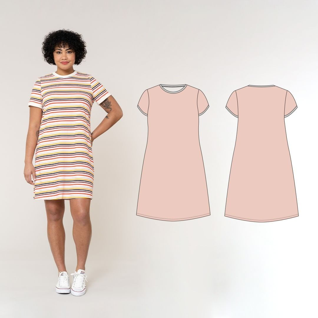 Seamwork On Instagram Meet The Seamworklito Dress This Knit Dress Is Inspired By A Classic Ringer Tee With A Littl Knit Dress Dresses Short Sleeve Dresses [ 1080 x 1080 Pixel ]