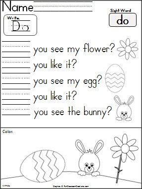 easter write and read do kinder kindergarten writing sight words kindergarten reading. Black Bedroom Furniture Sets. Home Design Ideas
