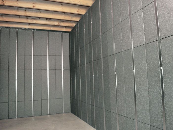 Silverglo Insulation And Metal Studs Making Up Our Basement To Beautiful Panels Insulating Basement Walls Basement Ceiling Ideas Cheap Wall Paneling Makeover