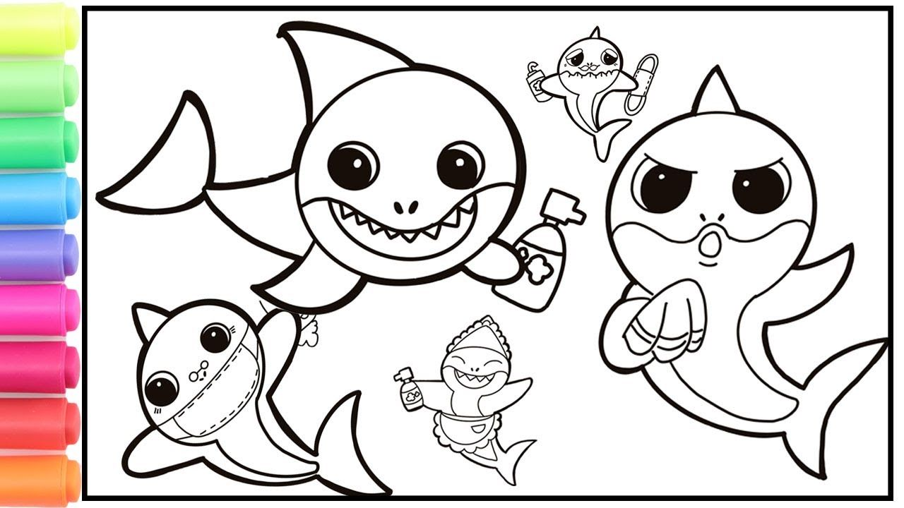 Wash Your Hands With Baby Shark Baby Shark Hand Wash Challenge With Dr Baby Shark Easy Drawings Wash Your Hands