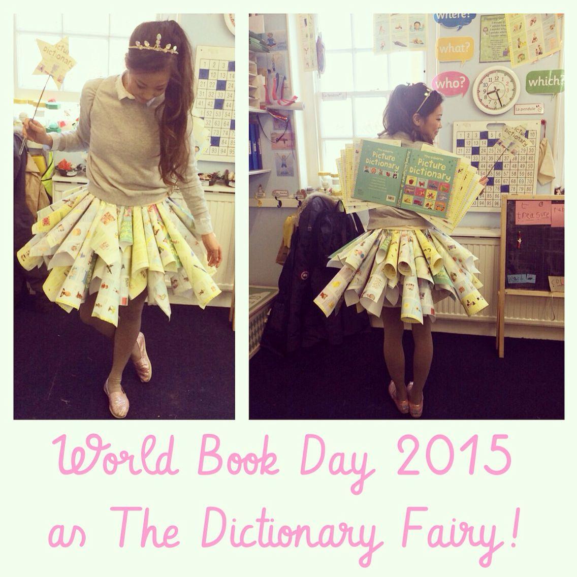 world book day costume early years teacher dictionary fairy