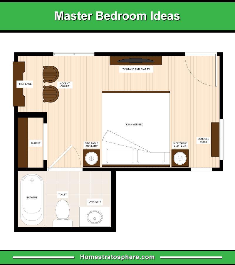 13 Master Bedroom Floor Plans Computer Drawings Master Bedroom Plans Master Bedroom Layout Bedroom Flooring