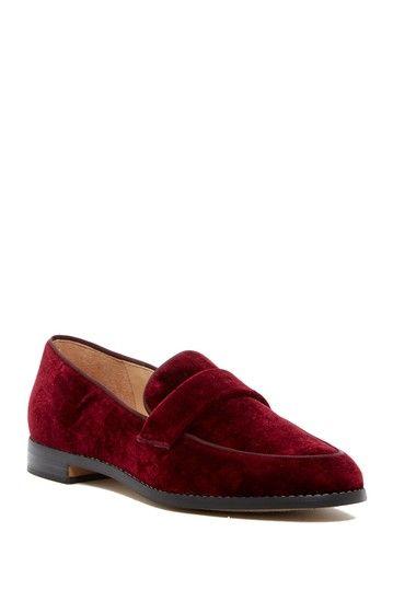 Franco Sarto Hudley Velvet Block Heel Loafers 8Dq2nASwS