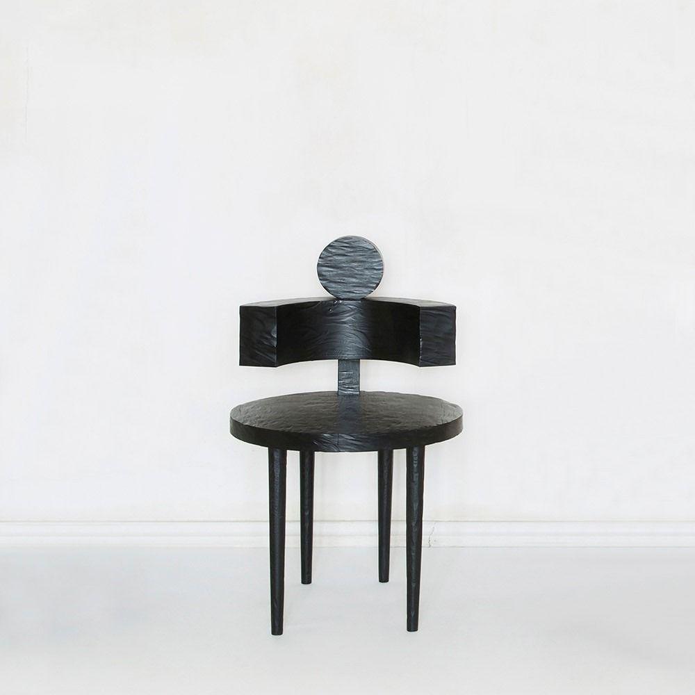 The Future Perfect Wild Sculptural Chair 04 Wood Dia 19 5 H33 Sh18  # Muebles Vasquez Bio Bio