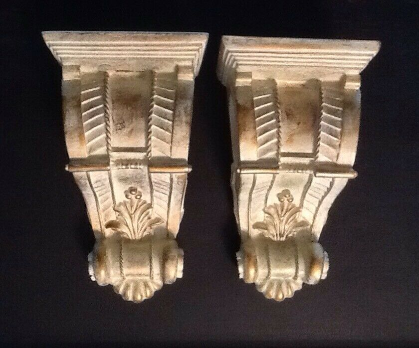 Details about One Pair of Large Pretty Curtain Rod Sconces ...