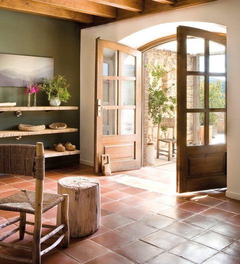 a look into interior design trends 2017 terracotta tiled floor - Terra Cotta Tile Home 2016