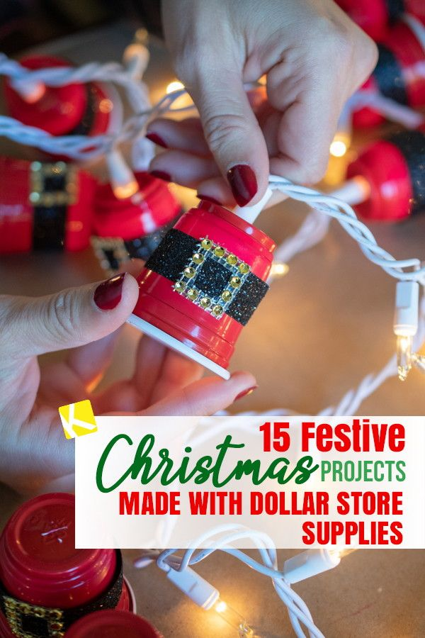 15 Dollar Store Christmas DIY Projects Anyone Can Do #dollarstorechristmascrafts