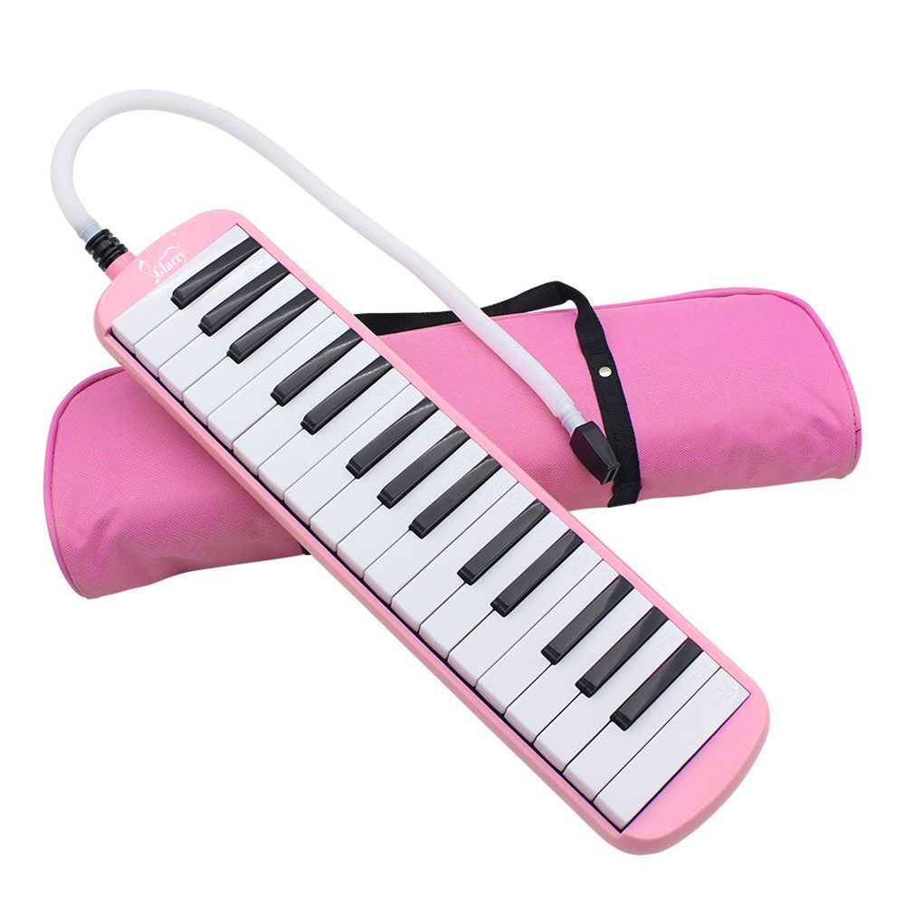 32-Key Melodica with Blowpipe & Blow Pipe - Blue