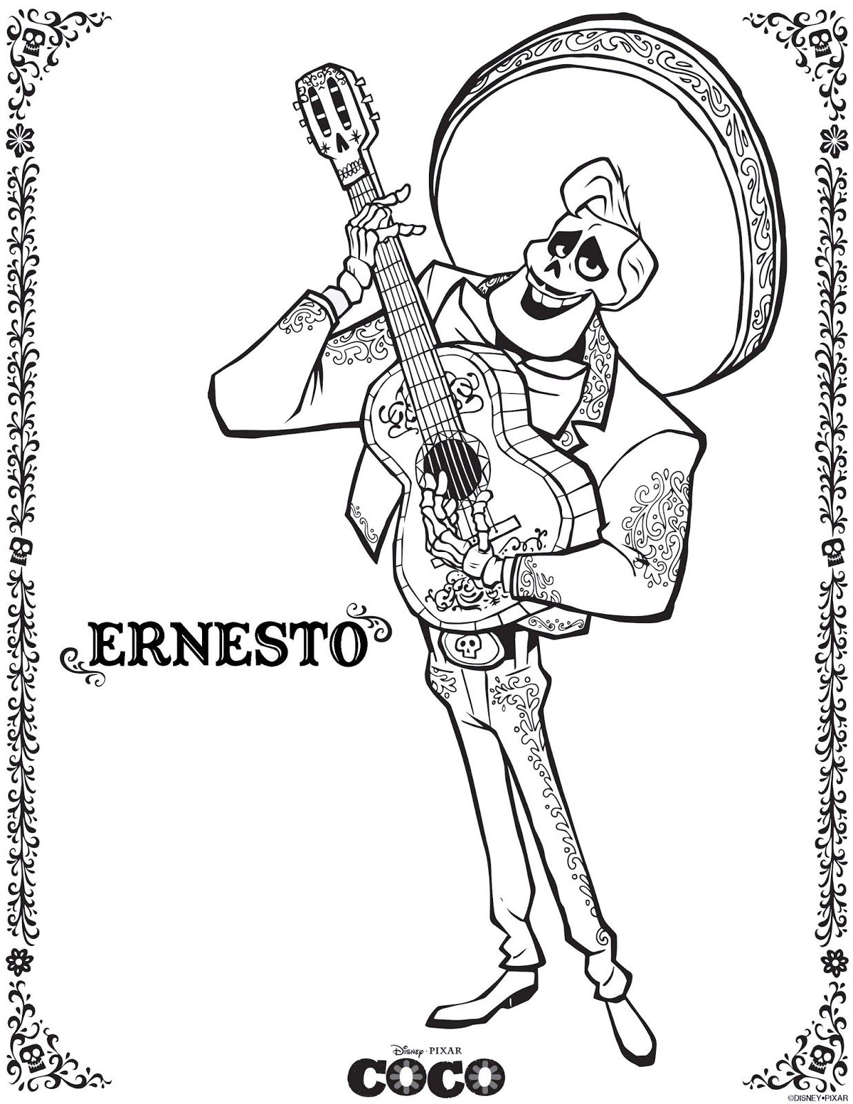 Coco Coloring Pages (August 2018 Edition) - Miguel coloring pages in ...