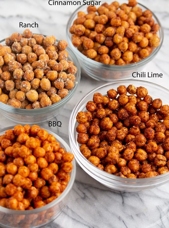 Crispy Air Fryer Chickpeas (4 Different Flavors) #airfryerrecipes